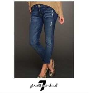 7 for All Mankind Roxanne Distressed Skinny Jeans